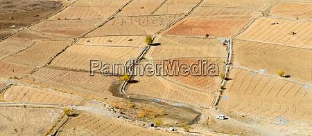 abstrakte geometrische form landwirtschaft parzellenfeld von