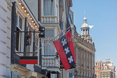 amsterdam flag at building