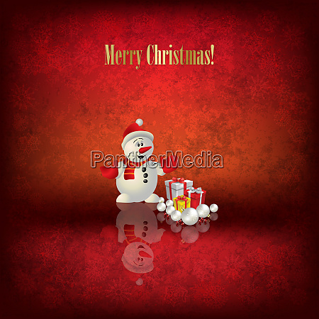 abstract christmas illustration with santa claus