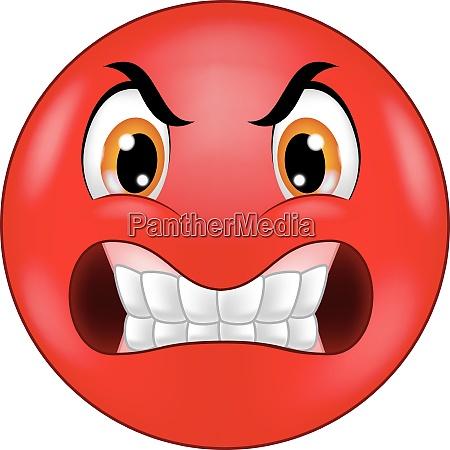 wuetende smiley emoticon