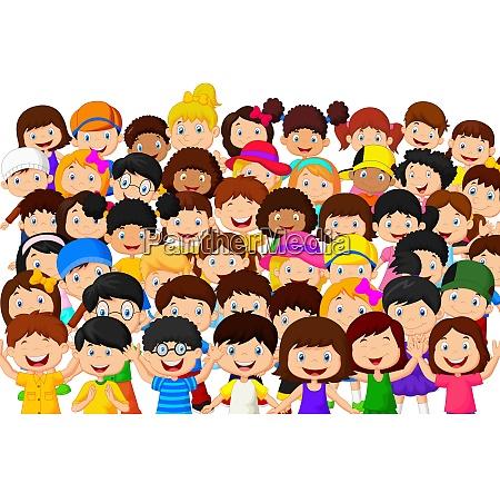 crowd von kindern