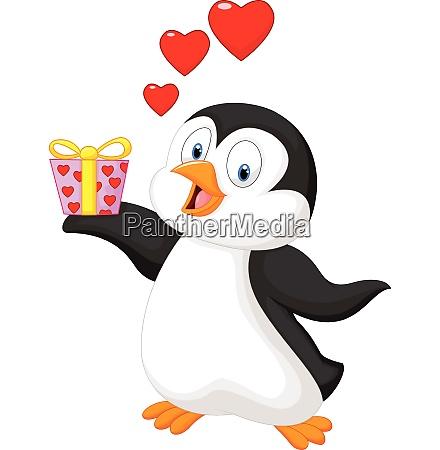 suesse pinguin halten vorhanden