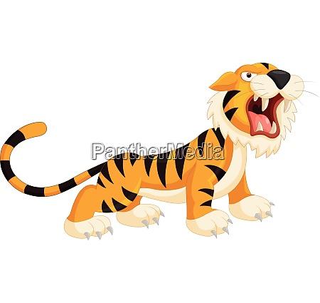 suesser cartoon tiger bruellt