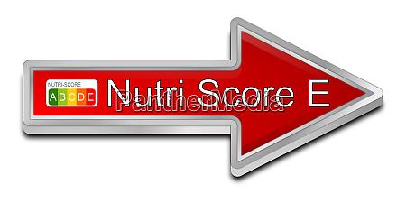 rot nutri score label e 5