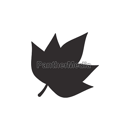 autumn leaf isolated icon nature and