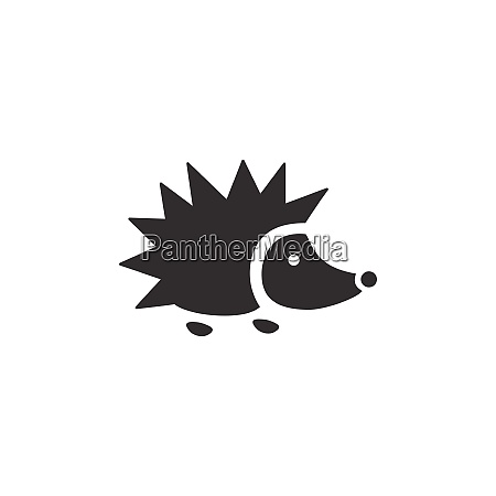 hedgehog isolated icon animal vector illustration