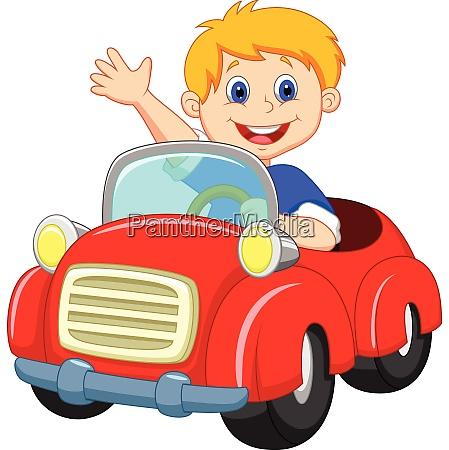 junge autofahrende