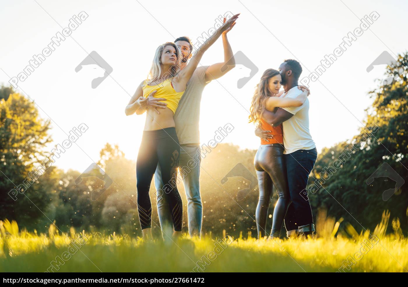 group, of, people, dancing, kizomba, in - 27661472