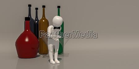 3d illustrator gruppe von karriere symbole