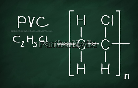 strukturmodell von pvc