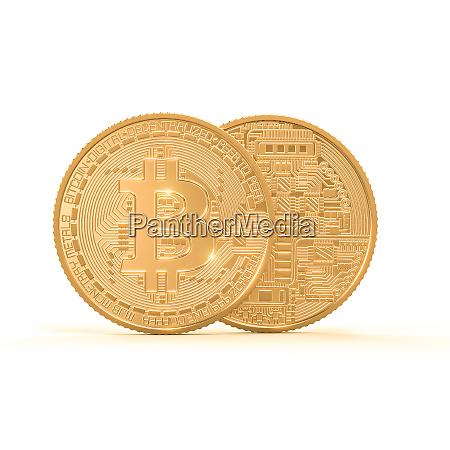 3d rendering bild von goldenen bitcoin