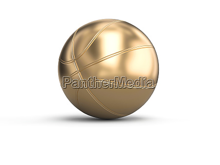 gold colored basketball on a white
