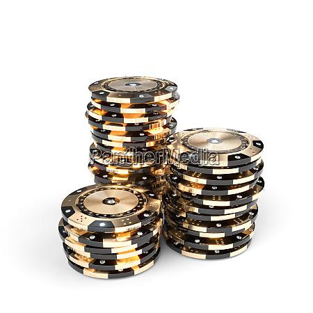 casino luxus chips in gold und
