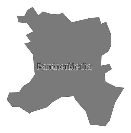ferizaj kosovo bezirk karte grau illustration