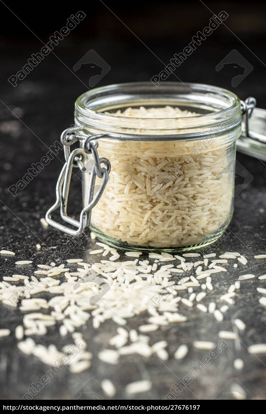 uncooked, indian, long, rice. - 27676197