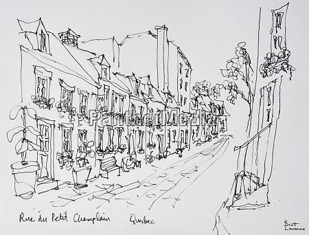 rue du petit champlain vieux quebec