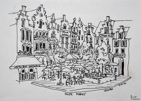 the oude markt in leuven belgium