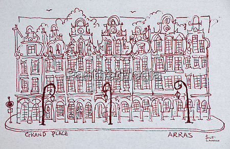 the grand place town square artois