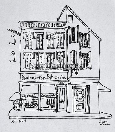 boulangerie patisserie avignon frankreich