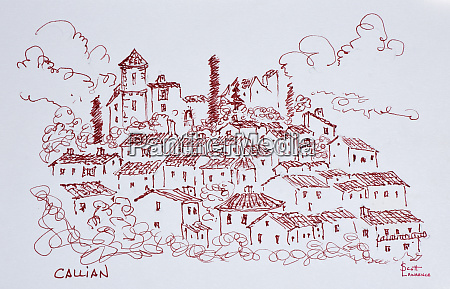 hilltop town of callian south of