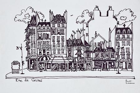haussmann architektur entlang der rue de