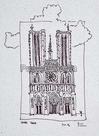 cathedral notre dame de paris ille
