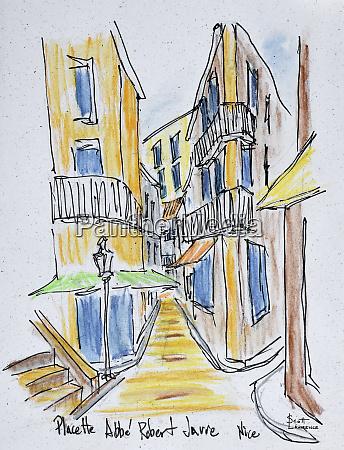 narrow streets along placette abbe robert