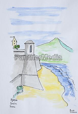 citadelle dajaccio ajaccio corsica france