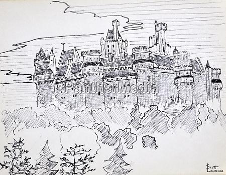chateau de pierrefonds oise france is