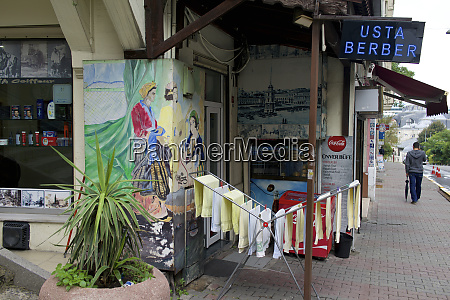 turkey istanbul beyoglu district barber shop