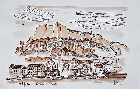 festungsstadt, bonifacio, korsika, frankreich - 27678010