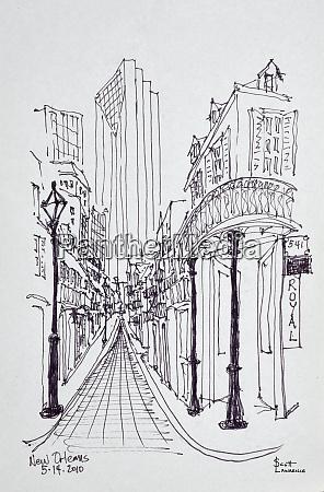 historische, gebäude, entlang, der, canal, street, french - 27678190