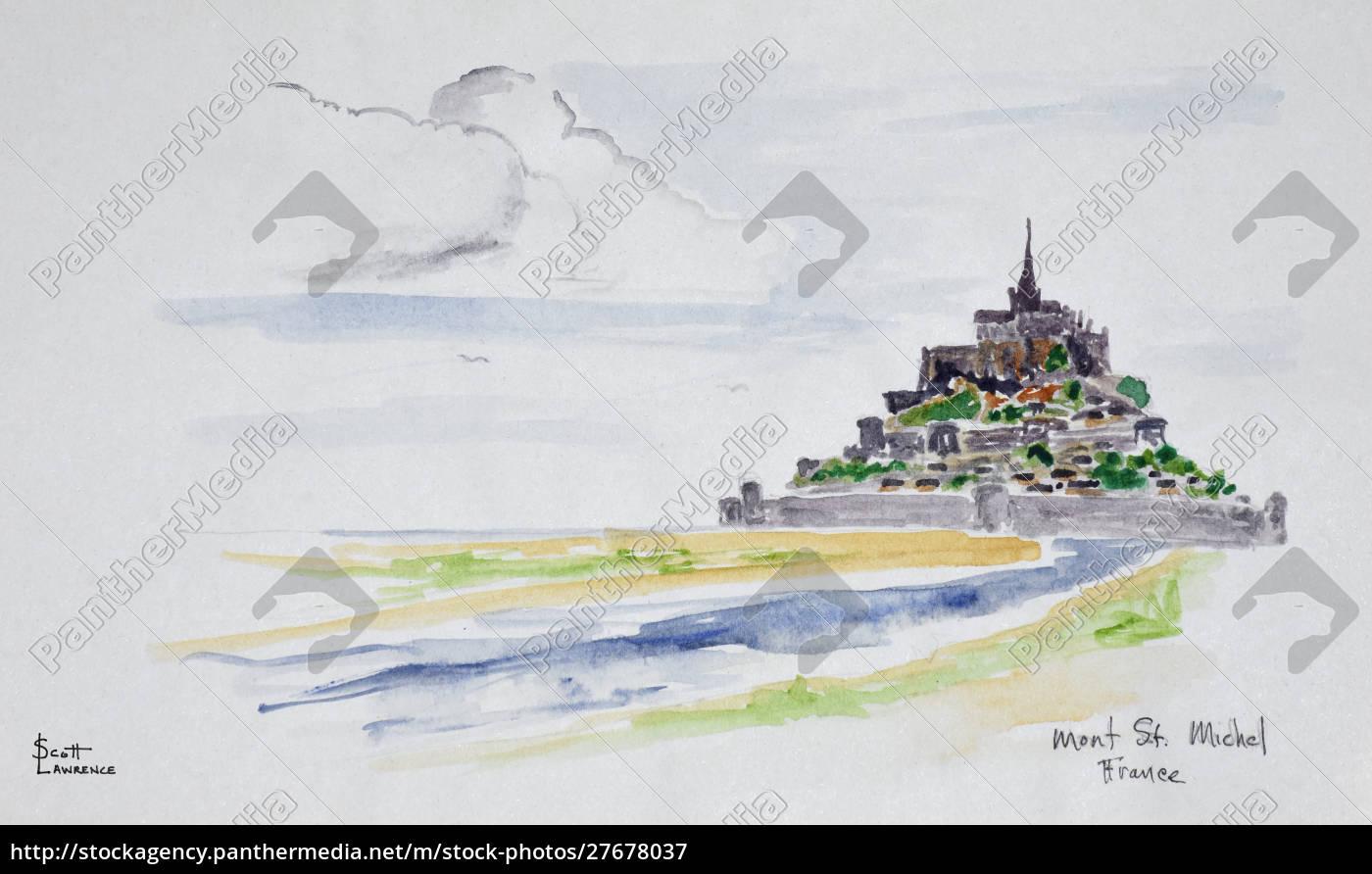 mont, saint-michel, normandie, frankreich - 27678037