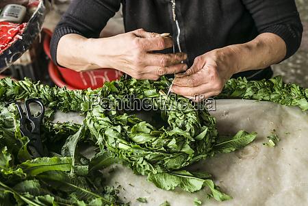 armenia yerevan gum market woman braiding