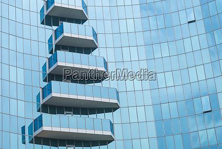 armenia yerevan blue glass balconies