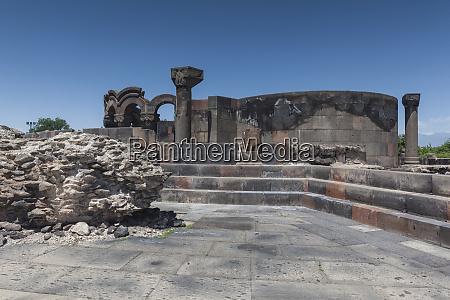 armenia zvartnots zvartnots cathedral ruins of