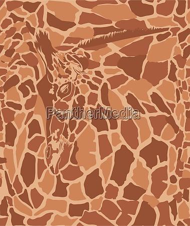 kunsthintergrund mit giraffe