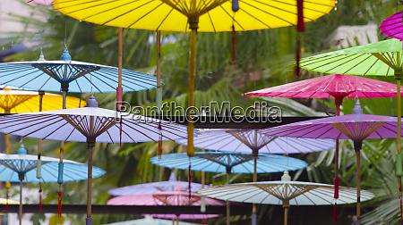 umbrella decoration in tianzifang an arts