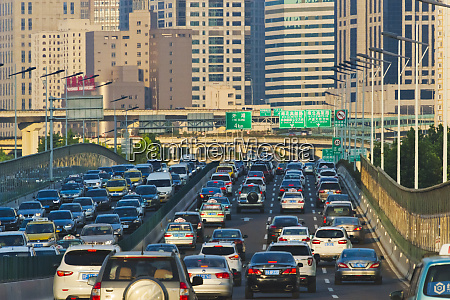 traffic on the street shanghai china