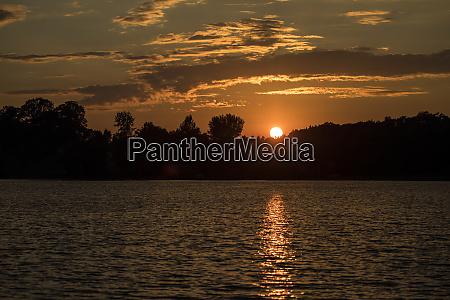 usa minnesota aitkin sunset at hanging