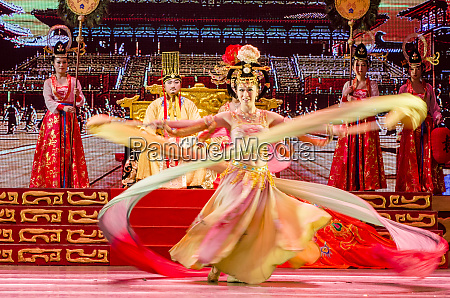 tang dynasty stage show xian china