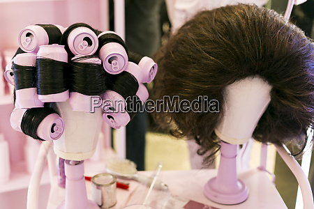 humorous hairstyling display new york city