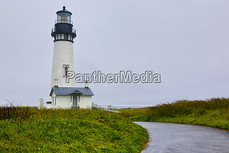 usa oregon yaquina head lighthouse on