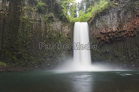 usa oregon abiqua falls plunges into