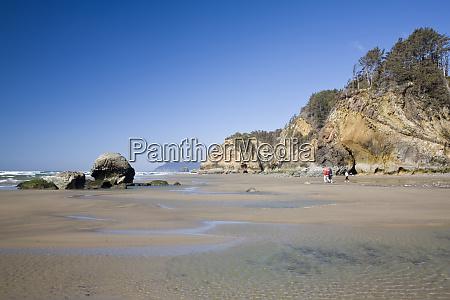 or oregon coast hug point enjoying