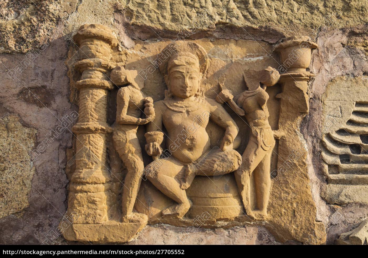 erotische, skulpturen, von, khajuraho, madhya, pradesh, indien. - 27705552