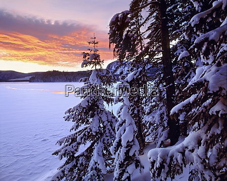 usa oregon newberry nvm sunset colors