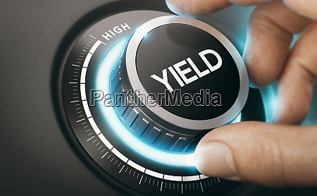 investment or finance concept yield management