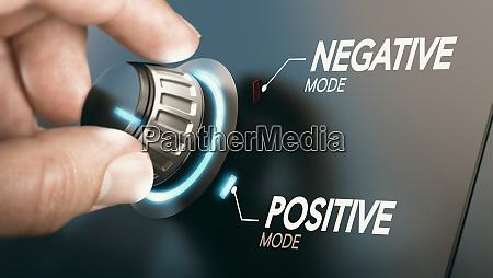 wechsel zu positiver einstellung psychologie konzept