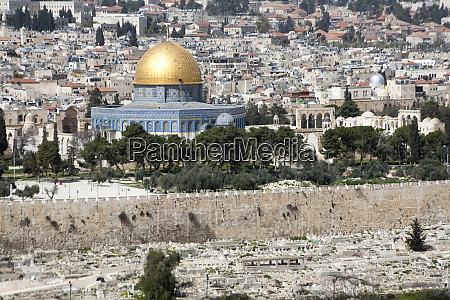 moslem golden dome of the rock